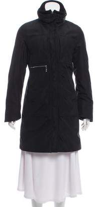 Post Card Hooded Knee-Length Coat