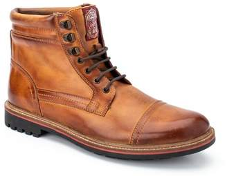 Base London Buck Leather Combat Boot