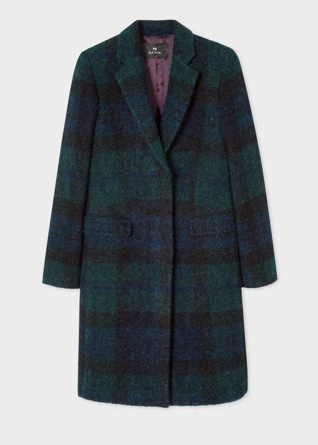 Women's Blackwatch Tartan Boucle Epsom Coat