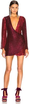 Retrofete retrofete Christine Dress in Burgundy & Pink | FWRD