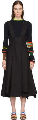 Enfold Black Box Pleat Suspender Skirt