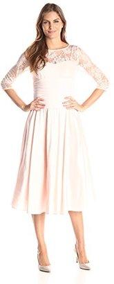 Jessica Howard Women's 3/4 Sleeve Illusion Dress $108.99 thestylecure.com
