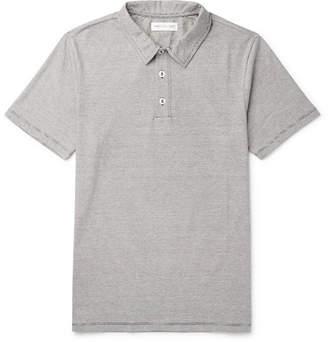 Hamilton and Hare Striped Slub Cotton-Jersey Polo Shirt