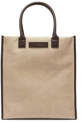 1a78bca064 WANT Les Essentiels Aberdeen Leather Trimmed Canvas Tote Bag - Mens - Beige