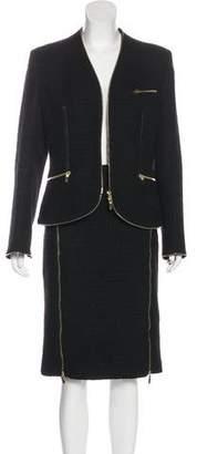 Alexander McQueen Tweed Wool Suit