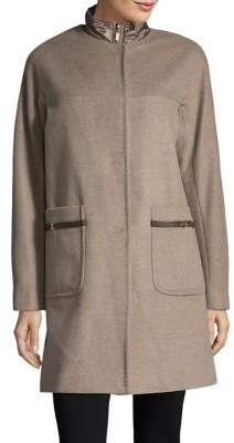 Ellen Tracy Wool Blend Topper Coat