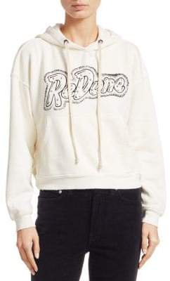RE/DONE Studded Cotton Hoodie
