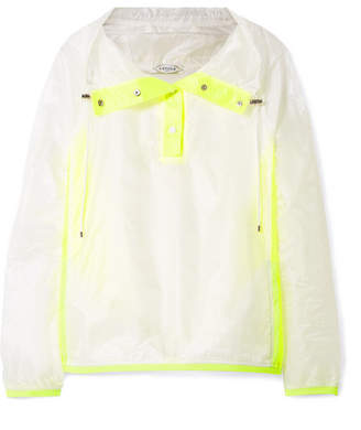 L'Etoile Sport - Hooded Two-tone Ripstop Jacket - White