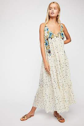 Flower Cascade Maxi Dress