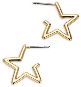 Kate Spade Scrunched Scallops Mini Star Hoop Earrings