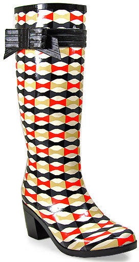 Kate Spade Randi Too - Multi Color Aztec Rain Boot With Bow