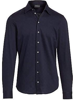 Emporio Armani Men's Geometric Jacquard Shirt