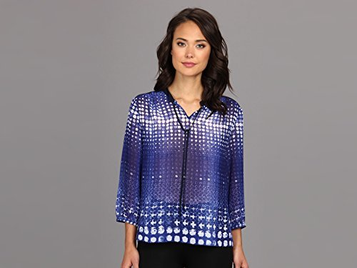 Vince Camuto Two by Women's Diffuse Dots Neck Tie Shirt
