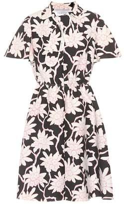 Valentino Floral-printed crêpe dress