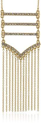 Rebecca Minkoff Pave Gold Fringe Pendant Necklace