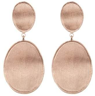 Rivka Friedman 18K Rose Gold Plated Wavy Oval Double Drop Earrings