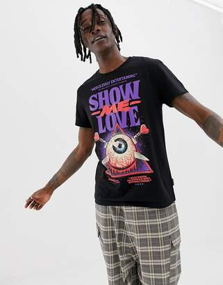 Cheap Monday Standard T-Shirt With Love Poster Print