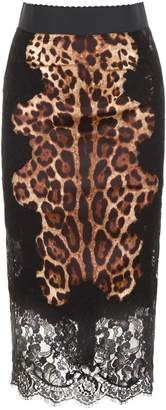 Dolce & Gabbana Leopard-printed Pencil Skirt