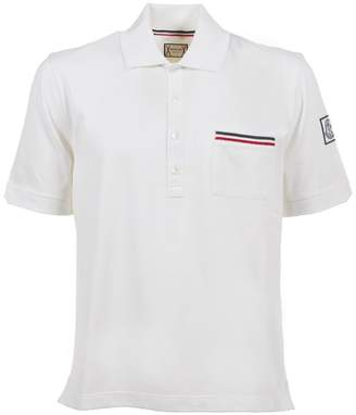 Moncler Gamme Bleu Striped Pocket Polo Shirt