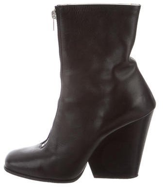 Céline Leather Wedge Ankle Boots