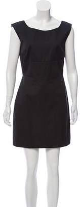 Prada Cap Sleeve Woven Dress