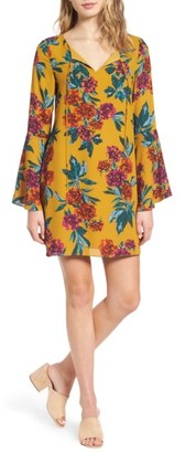 Women's Everly Flare Sleeve Print Dress $49 thestylecure.com
