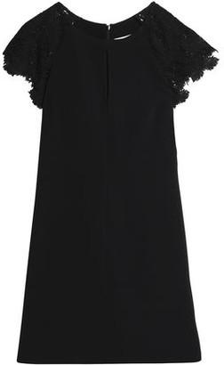 Emilio Pucci Guipure Lace-Paneled Crepe Mini Dress