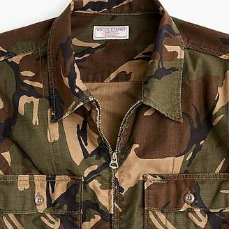 J.Crew Wallace & Barnes zip-front twill shirt-jacket in camo
