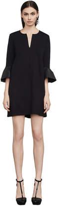 BCBGMAXAZRIA Catier Faux-Leather Trim Dress