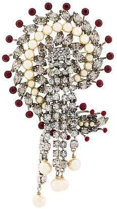 Etro (エトロ) - Etro pearl and crystal brooch