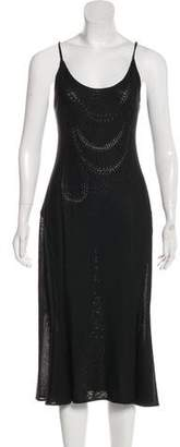 John Galliano Sleeveless Midi Dress