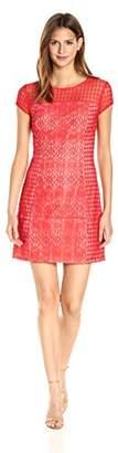Jessica Simpson Women's Mixed Lace Shift Dress