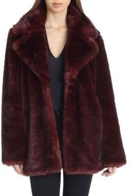AVEC LES FILLES Oversized Faux Fur Coat