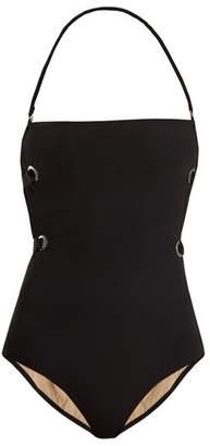 Zeus + dione Zeus + Dione - Triteia Eyelet Strapless Swimsuit - Womens - Black