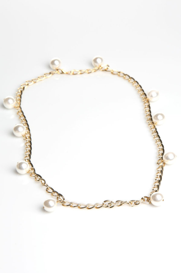 Kuo Ting Jewelry Japanese Pearl Long Necklace in Gold : Kuo Ting Jewelry Women
