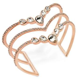 INC International Concepts I.N.C. Rose Gold-Tone Crystal Triple-Row Cuff Bracelet, Created for Macy's
