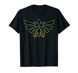 Nintendo Zelda Hyrule Crest Triforce Neon Outline T-Shirt
