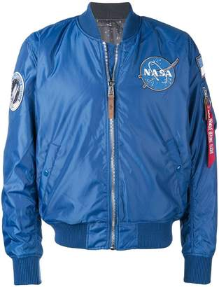 Alpha Industries Nasa patch bomber jacket