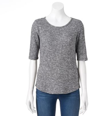 Women's Apt. 9® Essential Marled Tee $26 thestylecure.com