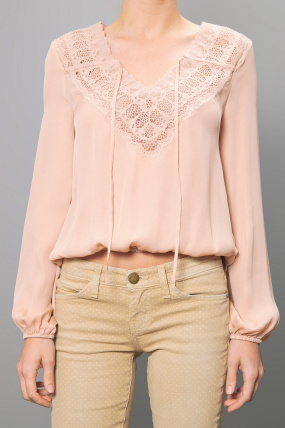Haute Hippie Embroidered Blouse