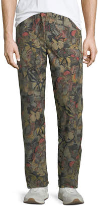 Valentino Men's Butterfly-Print Straight-Leg Pants
