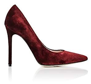 Barneys New York Women's Velvet Pumps - Red
