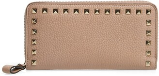 Valentino Rockstud Continental Leather Wallet