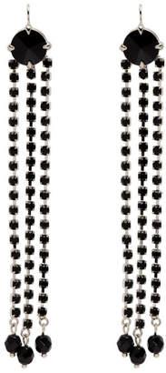 Miu Miu Black Crystal Three Tier Earrings