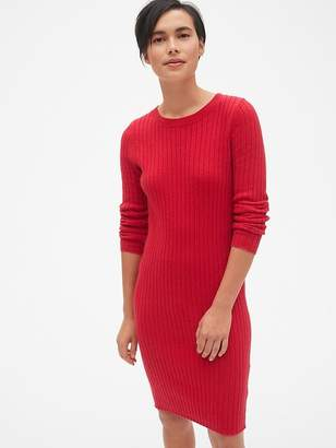 Gap Cozy Ribbed Crewneck Sweater Dress