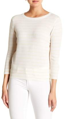 Vince Cashmere Stripe Back Tie Sweater