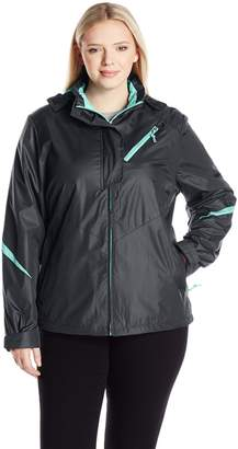 Big Chill Women's Plus Size Houndstooth Active Jacket