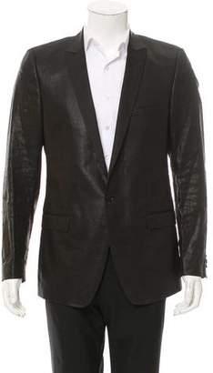 Dolce & Gabbana Coated Linen Tuxedo Jacket
