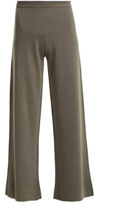 Allude Wide-leg wool trousers