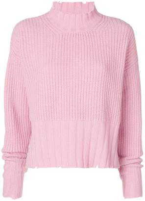MSGM long-sleeve knitted sweater